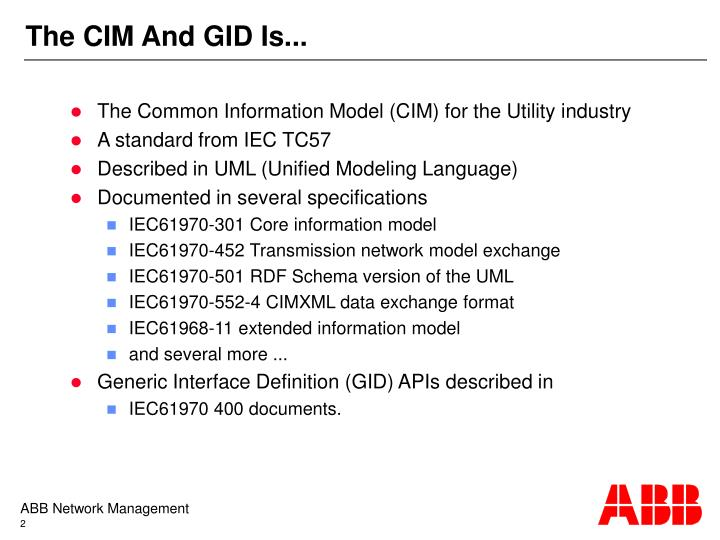 The cim and gid is