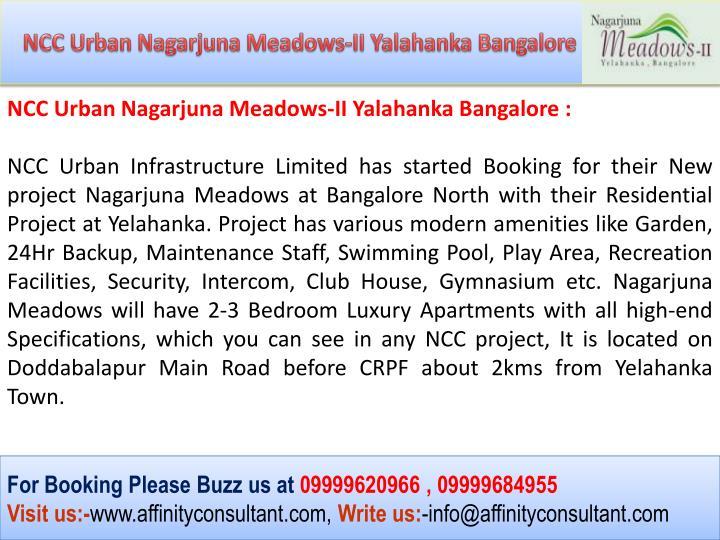 NCC Urban Nagarjuna Meadows-II Yalahanka Bangalore