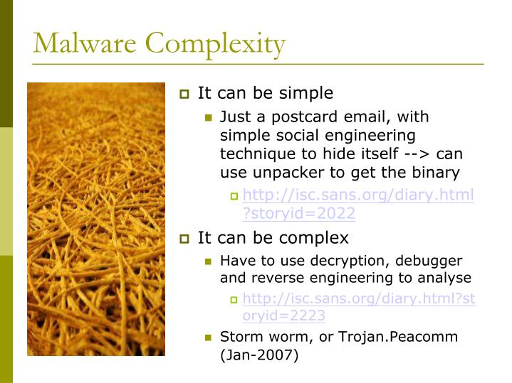 Malware Complexity