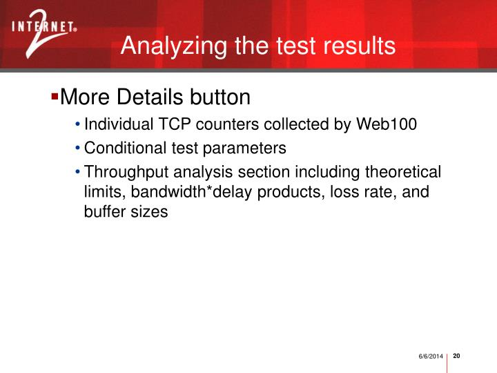 Analyzing the test results