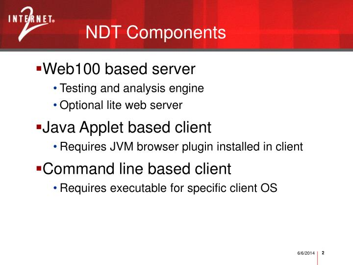Ndt components