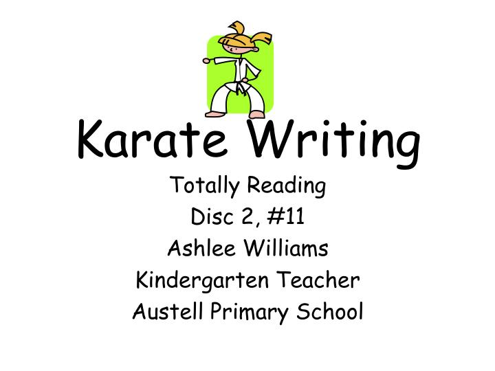 karate writing n.