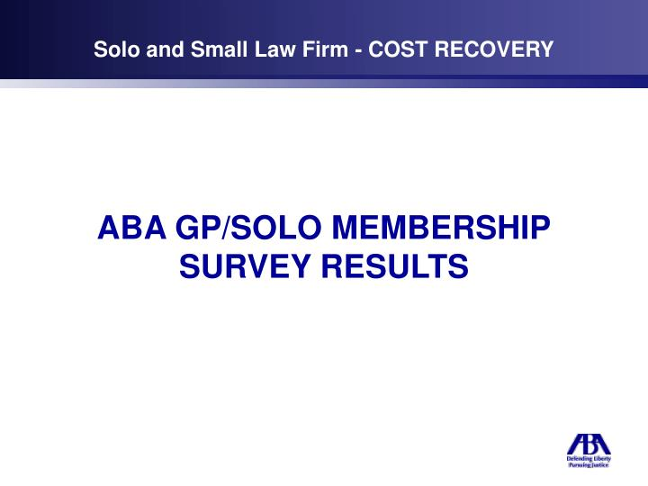 solo and small law firm cost recovery n.