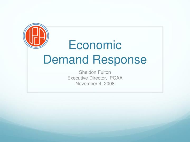 economic demand response n.