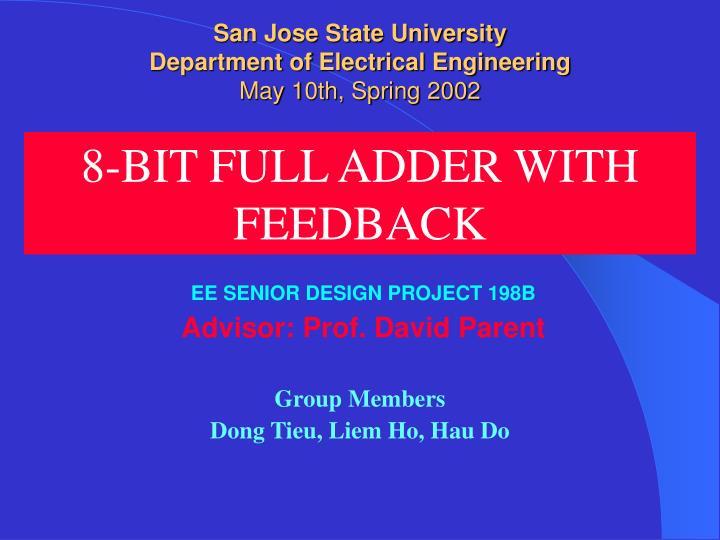 san jose state university department of electrical engineering may 10th spring 2002 n.