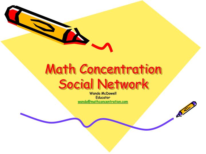 Math concentration social network