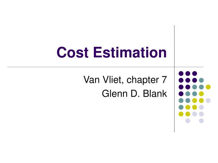 cost estimation n.