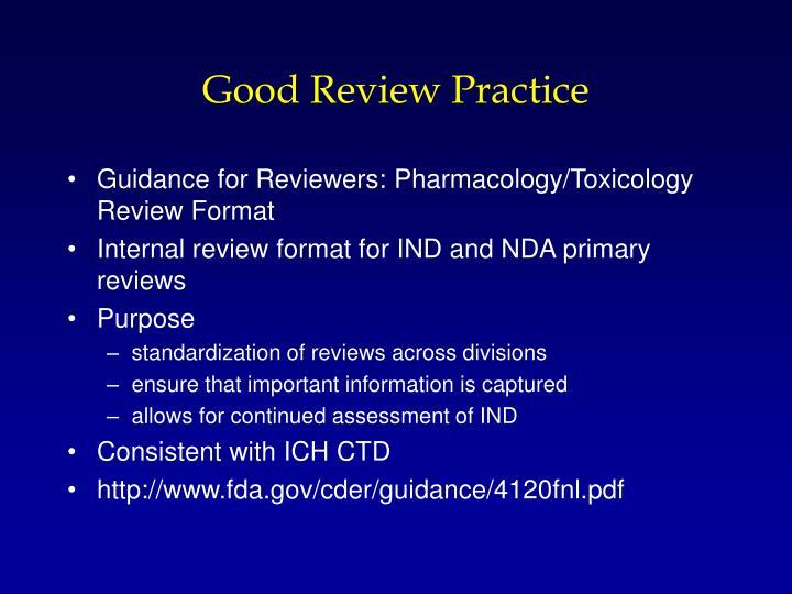 Good Review Practice