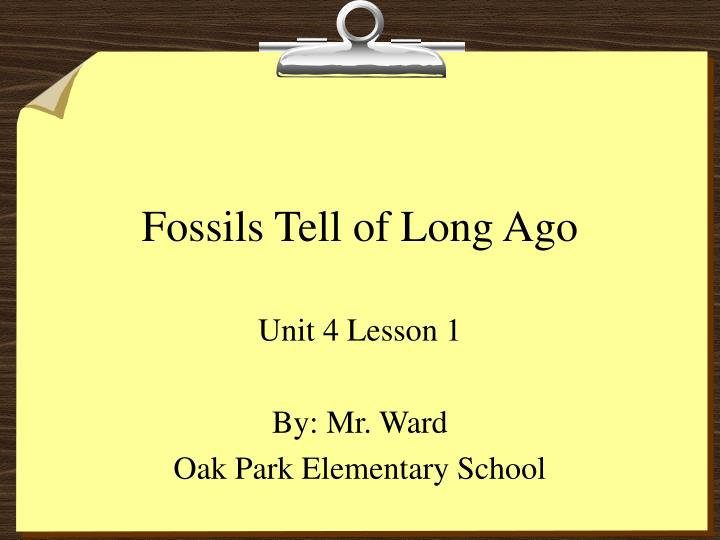 fossils tell of long ago n.