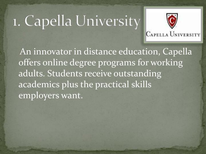 1 capella university