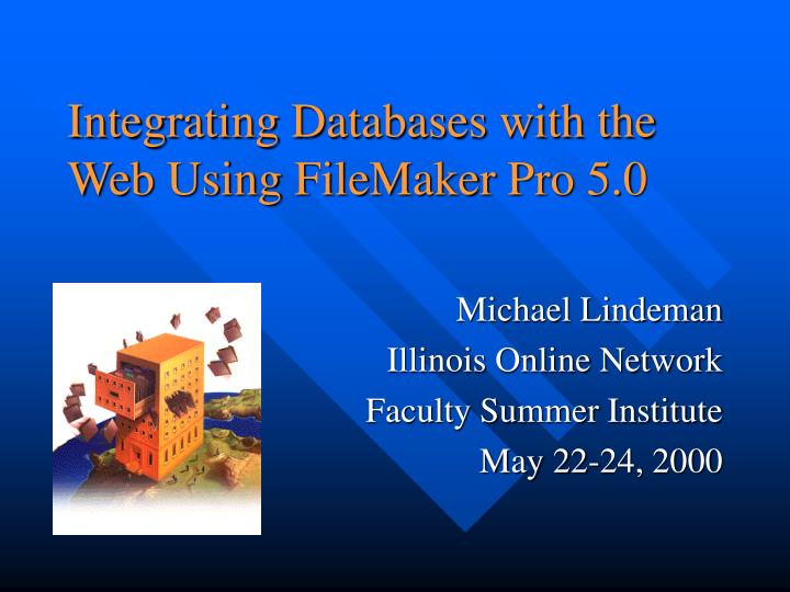 integrating databases with the web using filemaker pro 5 0 n.