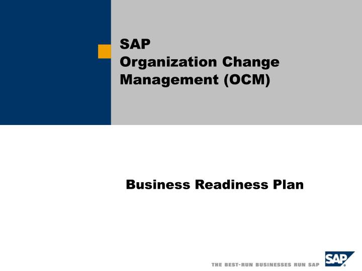 sap organization change management ocm n.