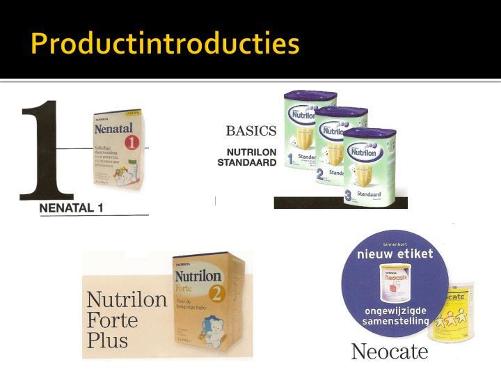 Productintroducties