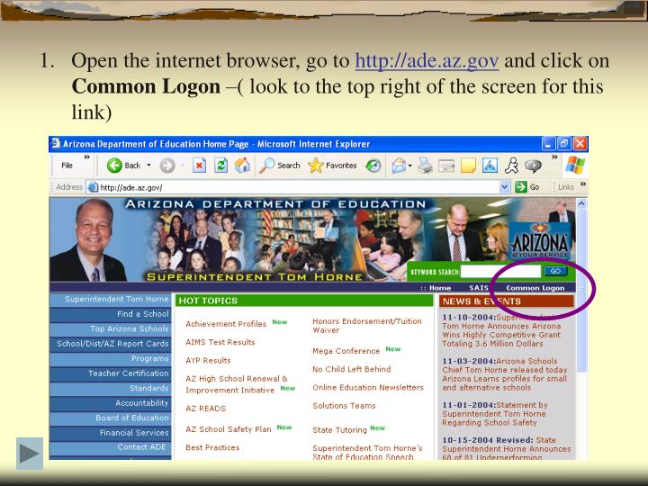 Open the internet browser, go to