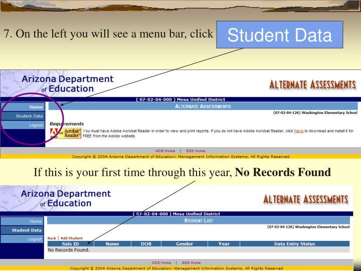 Student Data