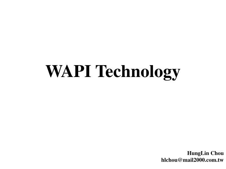 wapi technology n.