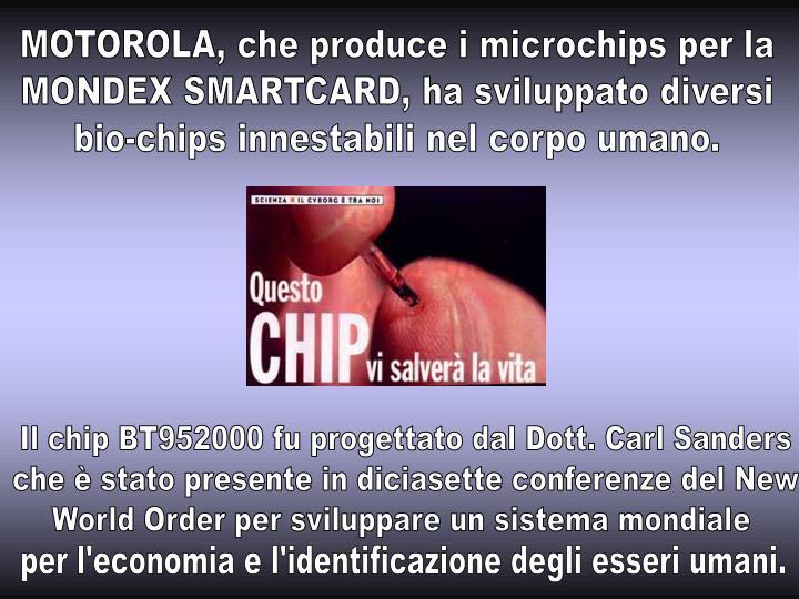 MOTOROLA, che produce i microchips per la