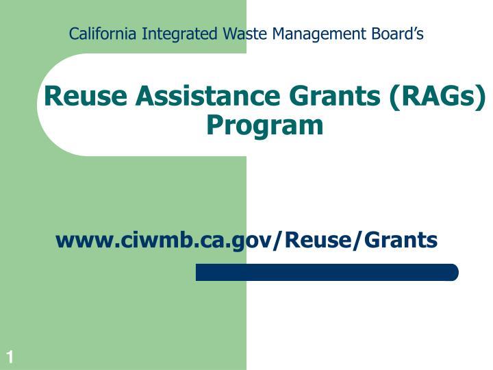 reuse assistance grants rags program n.
