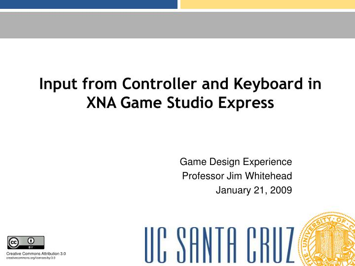 input from controller and keyboard in xna game studio express n.