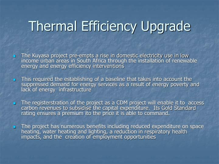Thermal Efficiency Upgrade