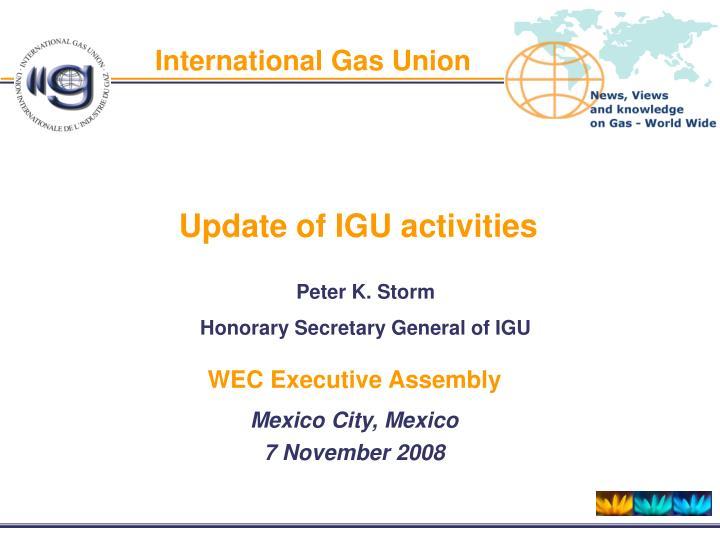 international gas union n.