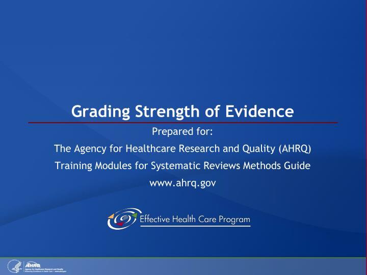 grading strength of evidence n.