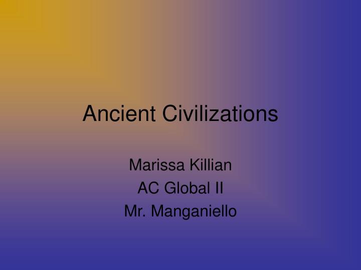 ancient civilizations n.