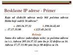 besklasne ip adrese primer