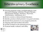 interdisciplinary excellence