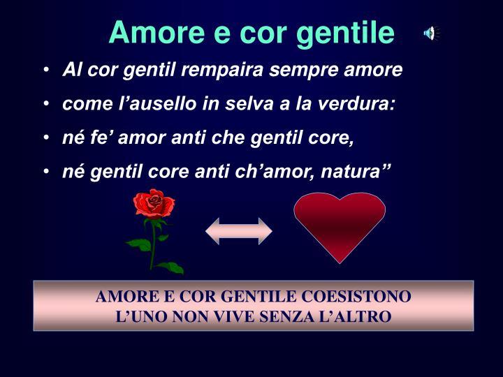 amore e cor gentile n.