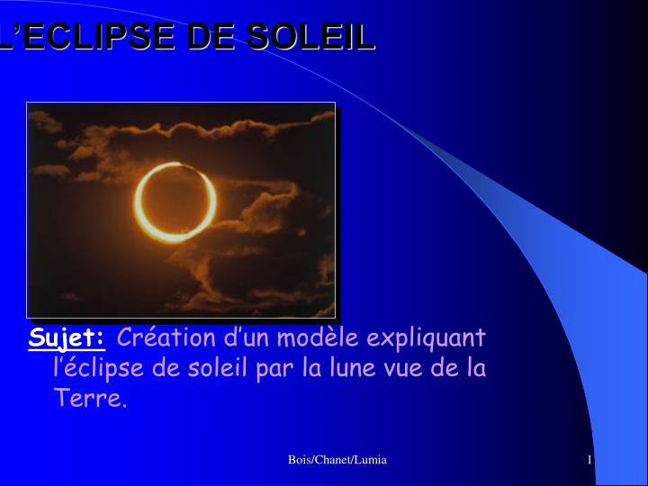 l eclipse de soleil n.
