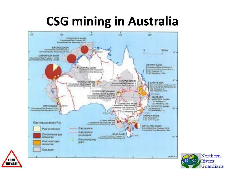 CSG mining in Australia