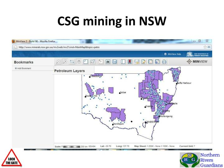 CSG mining in NSW