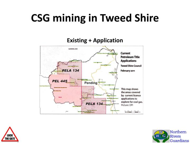 CSG mining in Tweed Shire