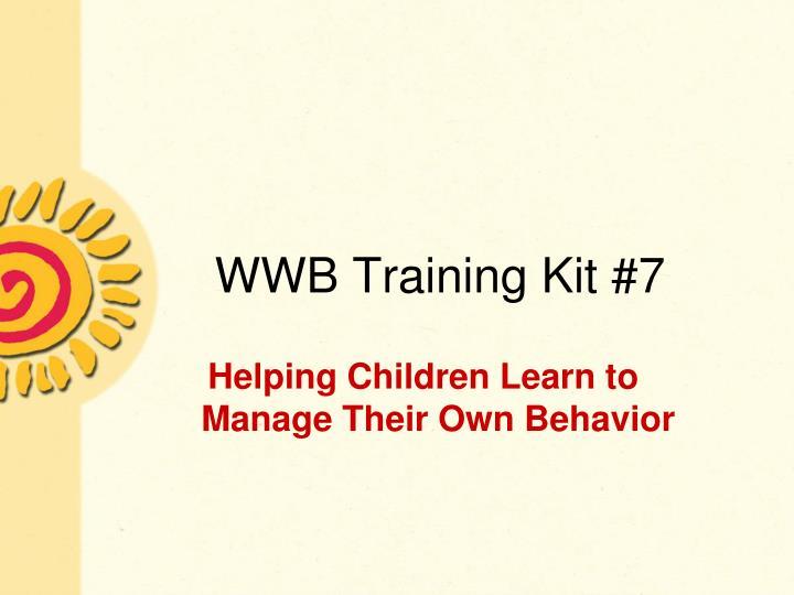 Wwb training kit 7
