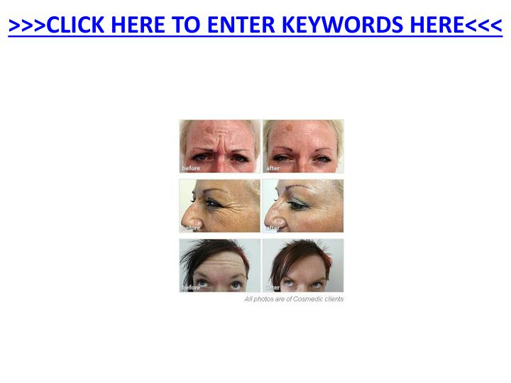 Click here to enter keywords here