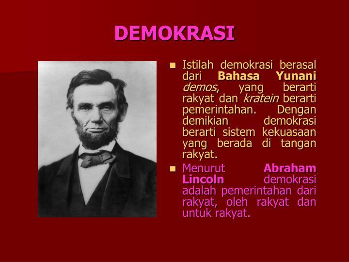 demokrasi n.