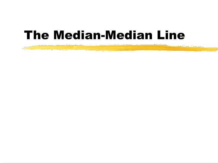 the median median line n.