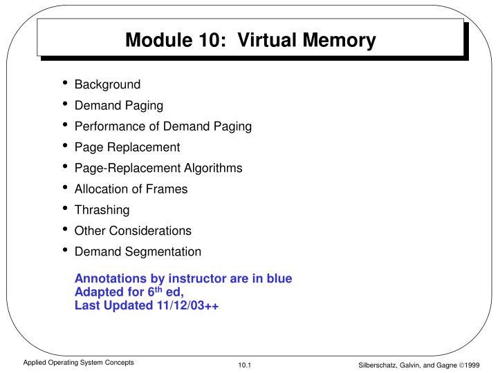 module 10 virtual memory n.