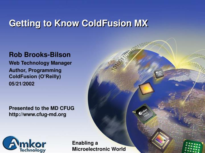 getting to know coldfusion mx n.