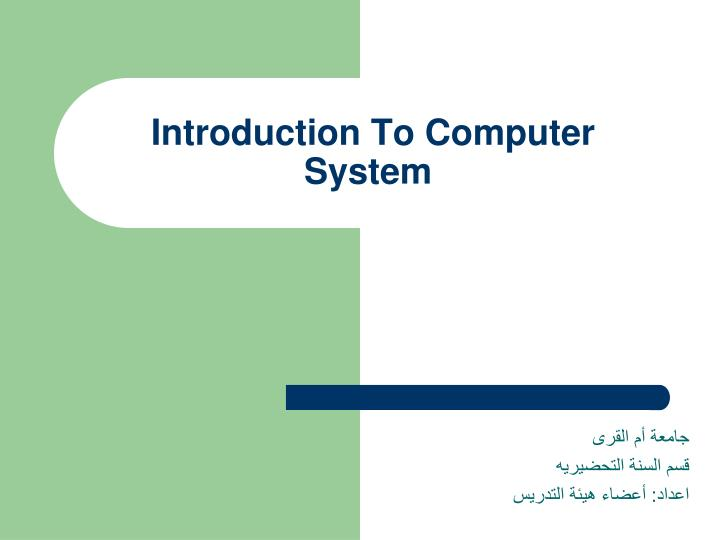 introduction to computer system n.