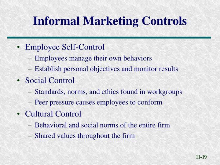 Employee Self-Control