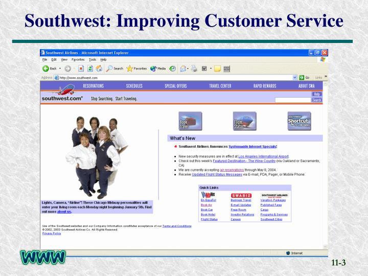 Southwest improving customer service