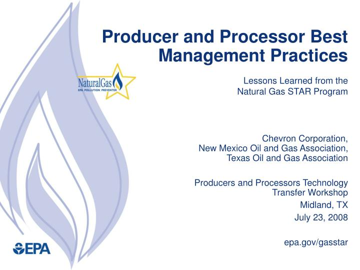 producer and processor best management practices n.
