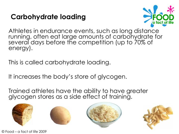 carbohydrate loading Pre-race pasta parties sure sound like a fun way to enjoy the night before the race but does carb loading really work, and how can we use it to achieve peak performance.