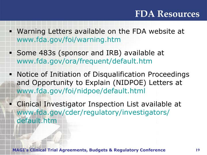 FDA Resources