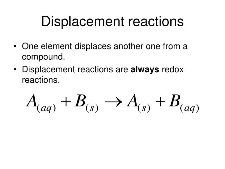 Displacement reactions