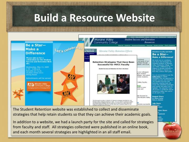 Build a Resource Website