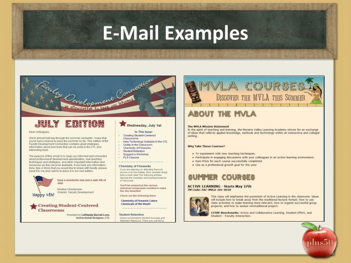 E-Mail Examples