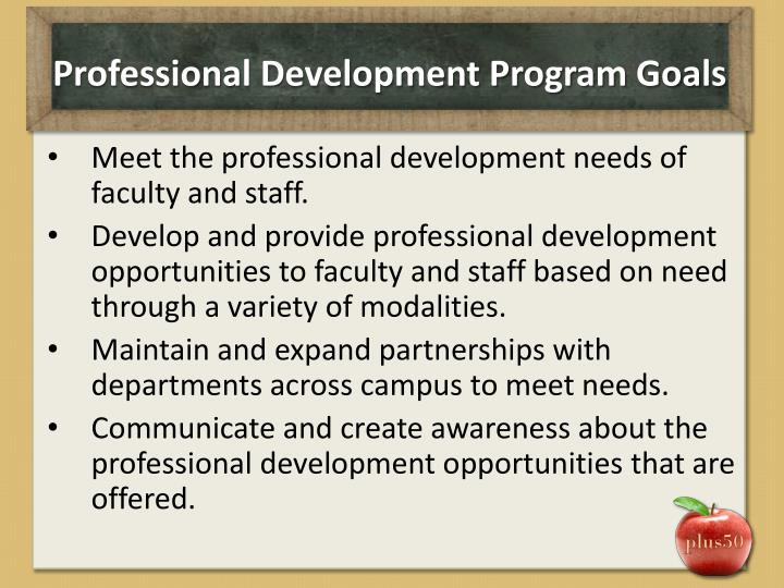Professional Development Program Goals